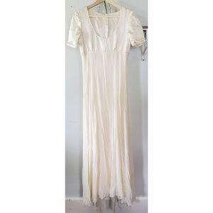 vintage gianfranco ferre white silk wedding gown
